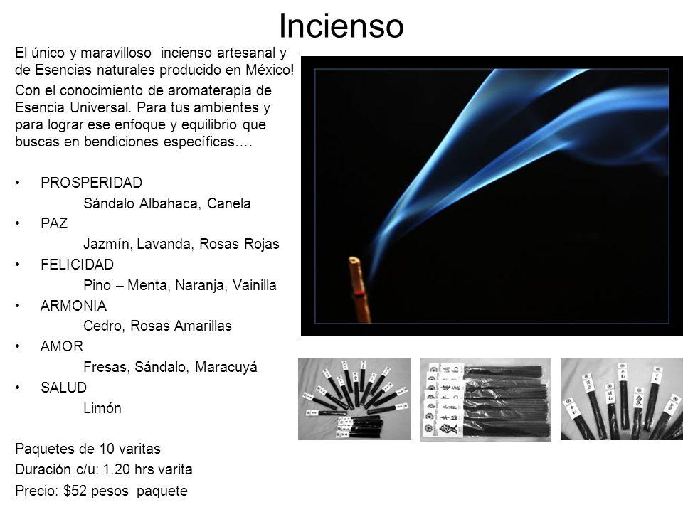 Incienso El único y maravilloso incienso artesanal y de Esencias naturales producido en México! Con el conocimiento de aromaterapia de Esencia Univers