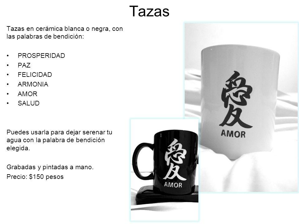 Tazas Tazas en cerámica blanca o negra, con las palabras de bendición: PROSPERIDAD PAZ FELICIDAD ARMONIA AMOR SALUD Puedes usarla para dejar serenar t