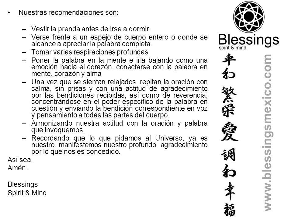 Bendiciones para todos, Oraciones que purifiquen, Que armonicen, Que cambien las vibraciones Regala bendiciones.