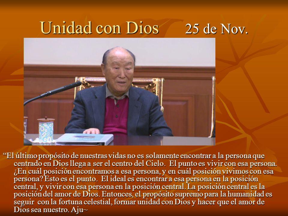 Unidad con Dios 25 de Nov.