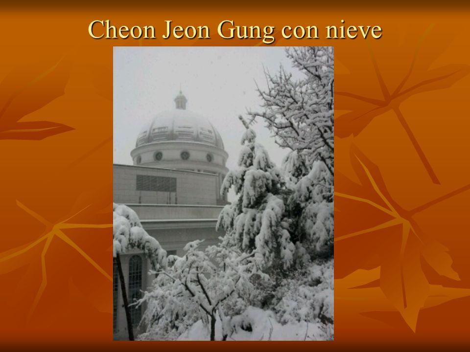 Cheon Jeon Gung con nieve