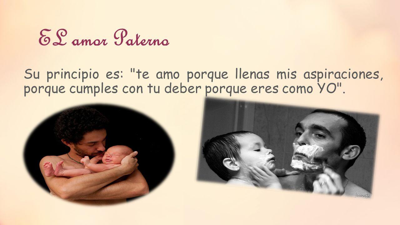 EL amor Paterno Su principio es: