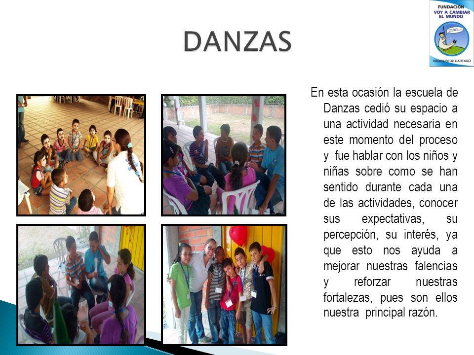 En esta ocasión la escuela de Danzas cedió su espacio a una actividad necesaria en este momento del proceso y fue hablar con los niños y niñas sobre c