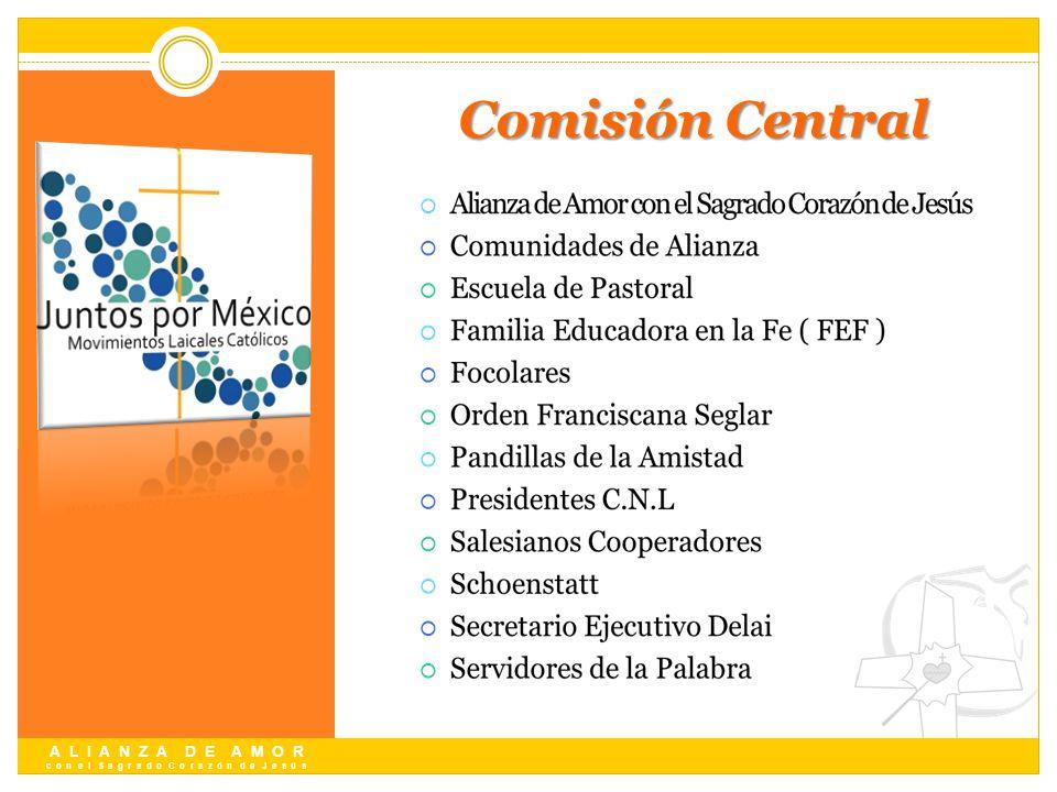 A L I A N Z A D E A M O R c o n e l S a g r a d o C o r a z ó n d e J e s ú s Comisión Central