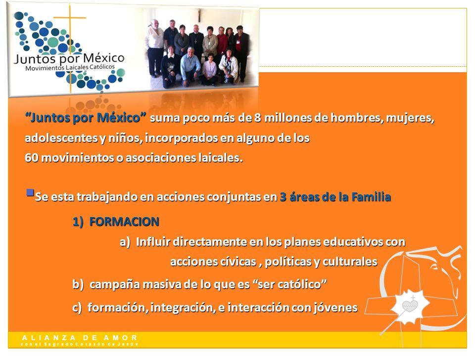 A L I A N Z A D E A M O R c o n e l S a g r a d o C o r a z ó n d e J e s ú s Juntos por México suma poco más de 8 millones de hombres, mujeres, adole