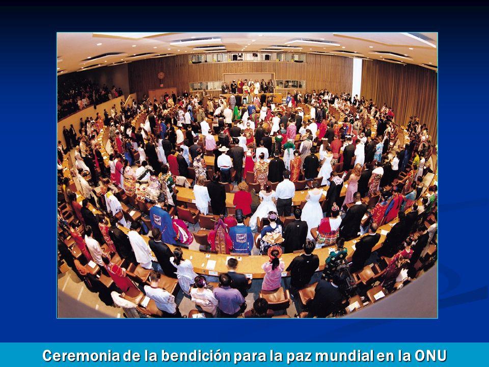 Ceremonia de la bendición para la paz mundial en la ONU (Organización de las Naciones Unidas) Ceremonia de la bendición para la paz mundial en la ONU
