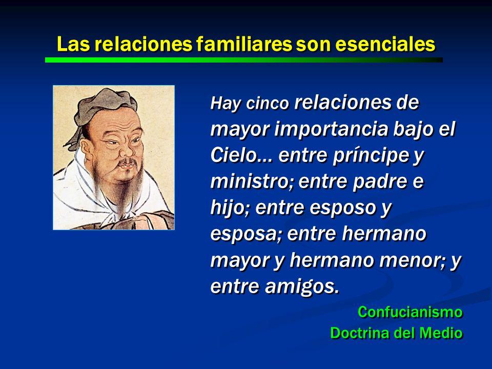 Hay cinco relaciones de mayor importancia bajo el Cielo… entre príncipe y ministro; entre padre e hijo; entre esposo y esposa; entre hermano mayor y h