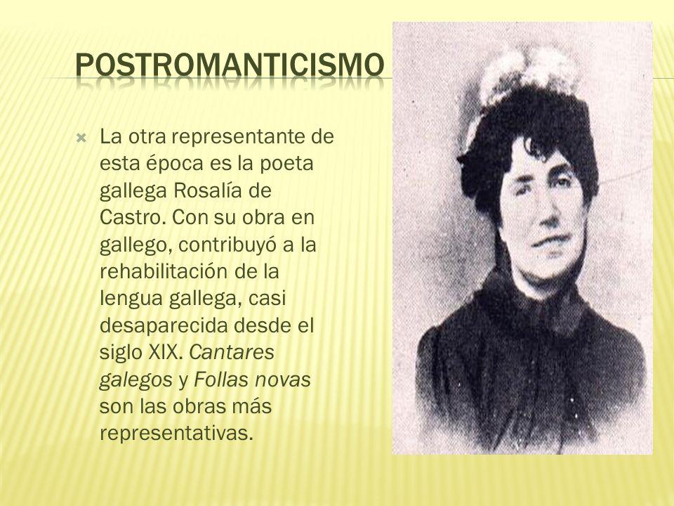 La época más representativa de este período es el Postromanticismo, cuyo máximo representante es un poeta sevillano, Gustavo Adolfo Bécquer, pintado a