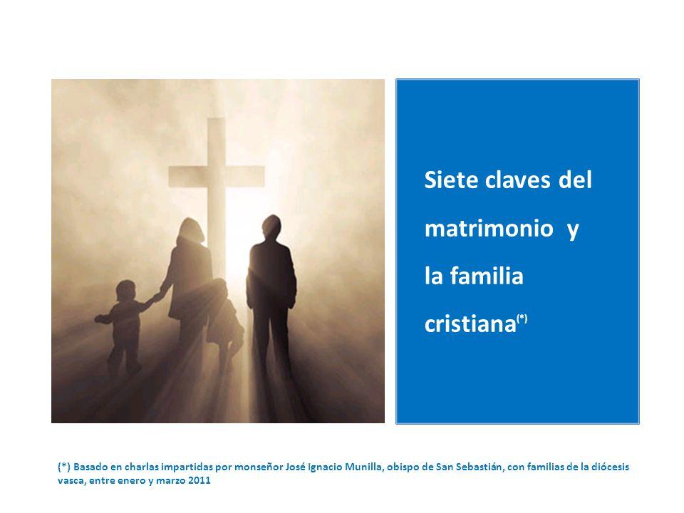 (*) Basado en charlas impartidas por monseñor José Ignacio Munilla, obispo de San Sebastián, con familias de la diócesis vasca, entre enero y marzo 2011 Siete claves del matrimonio y la familia cristiana (*)