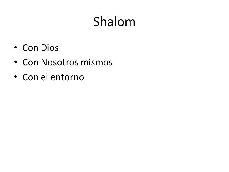 Shalom Con Dios Shalom no es simplemente el estado de ausencia de conflicto.