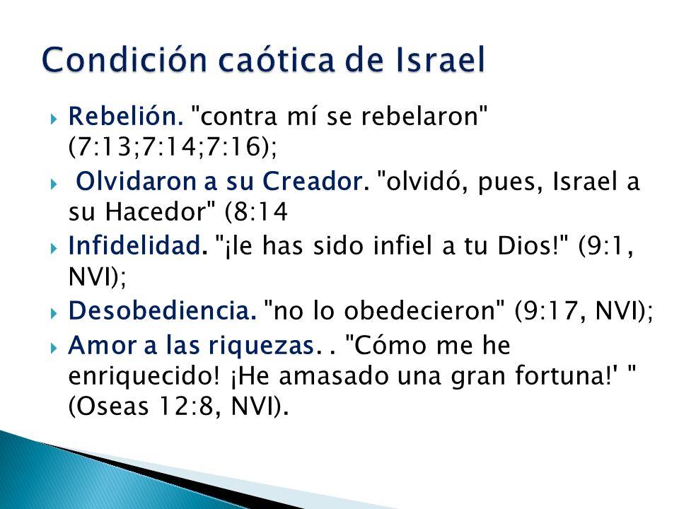 1.Paloma incauta sin entendimiento. (Oseas 7:11,12).