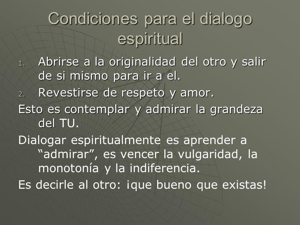 Condiciones para el dialogo espiritual 1.