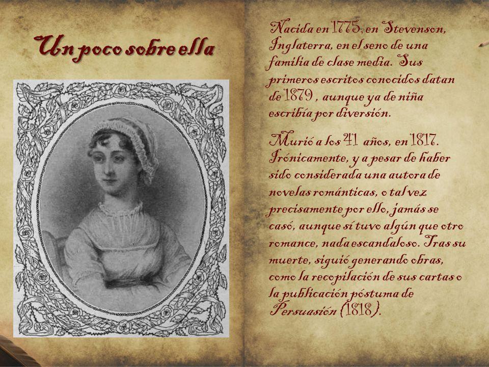 Un poco sobre ella Nacida en 1775, en Stevenson, Inglaterra, en el seno de una familia de clase media. Sus primeros escritos conocidos datan de 1879,