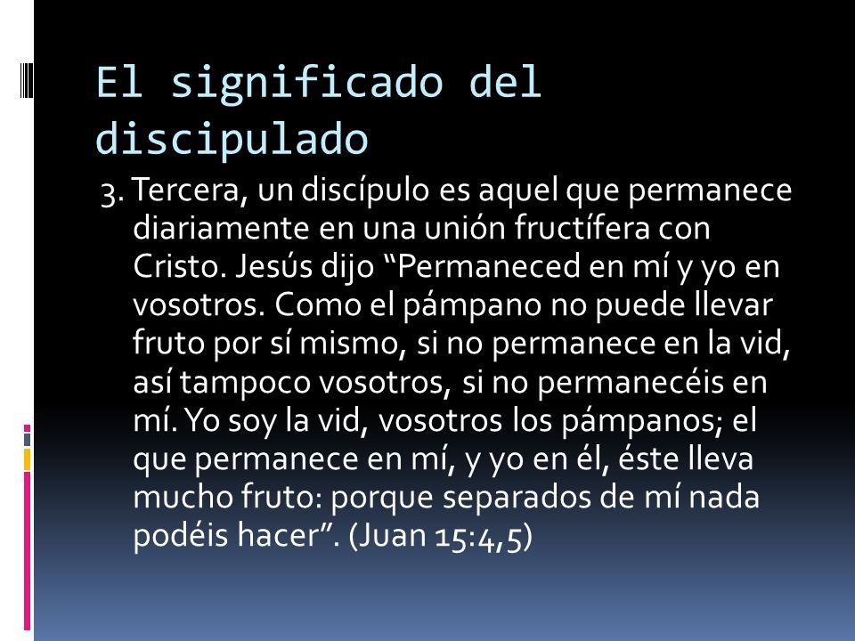El significado del discipulado 3.