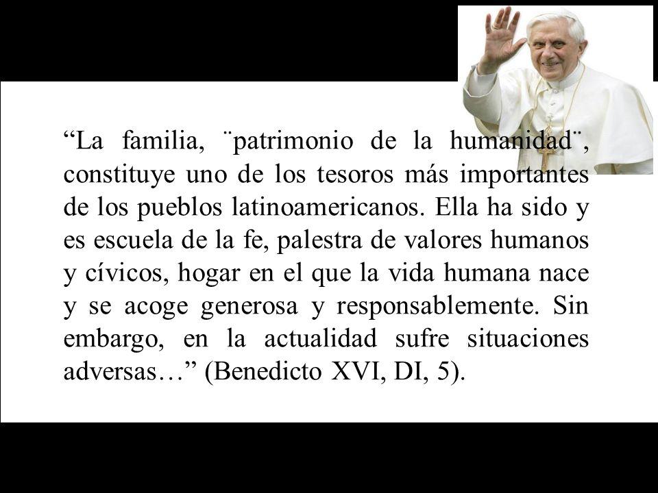 La familia, ¨patrimonio de la humanidad¨, constituye uno de los tesoros más importantes de los pueblos latinoamericanos. Ella ha sido y es escuela de