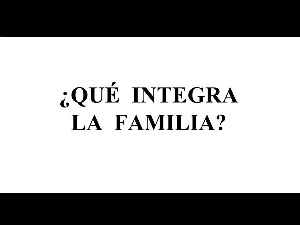 ¿QUÉ INTEGRA LA FAMILIA?