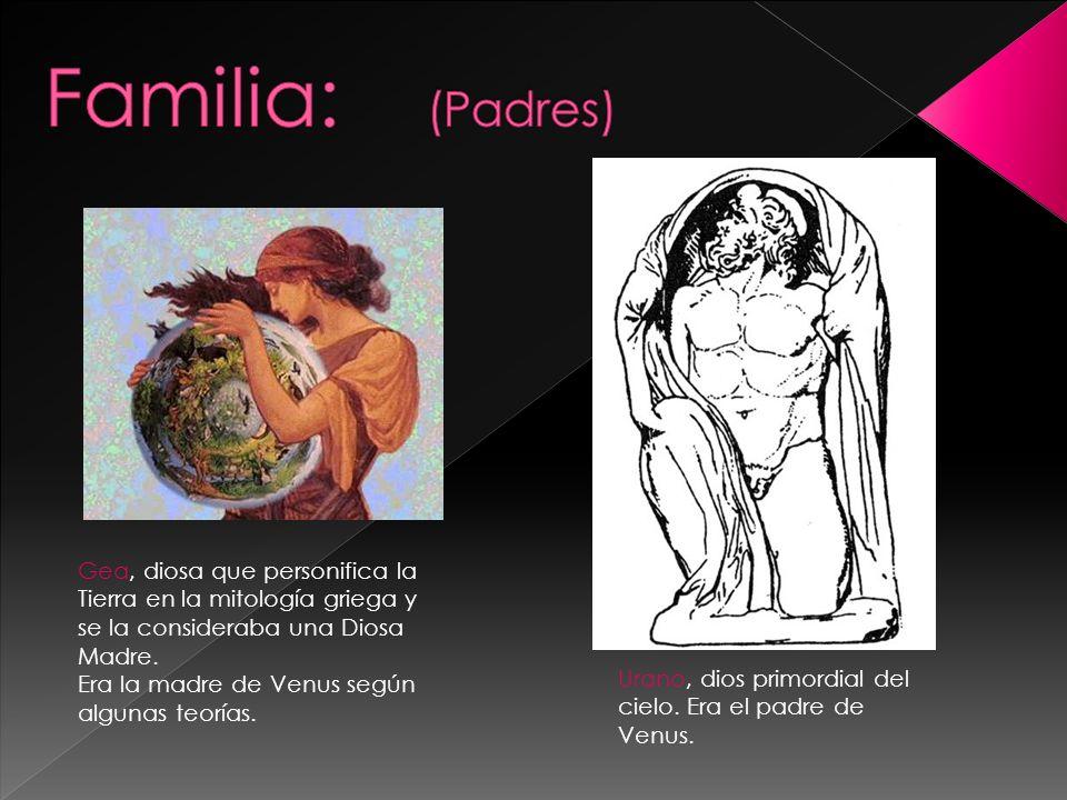 Cupido (Eros en Griego),hijo de Venus y Ares.