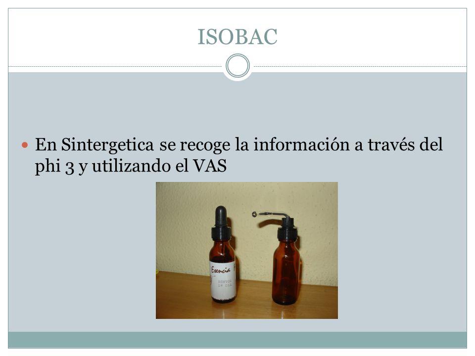 ISOBAC En Sintergetica se recoge la información a través del phi 3 y utilizando el VAS
