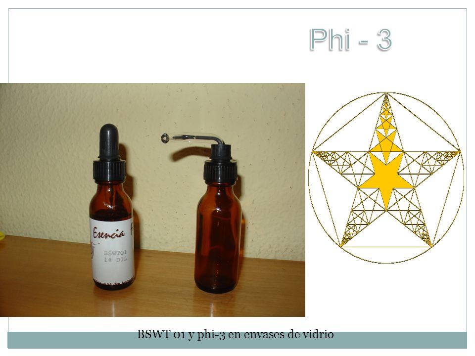 BSWT 01 y phi-3 en envases de vidrio