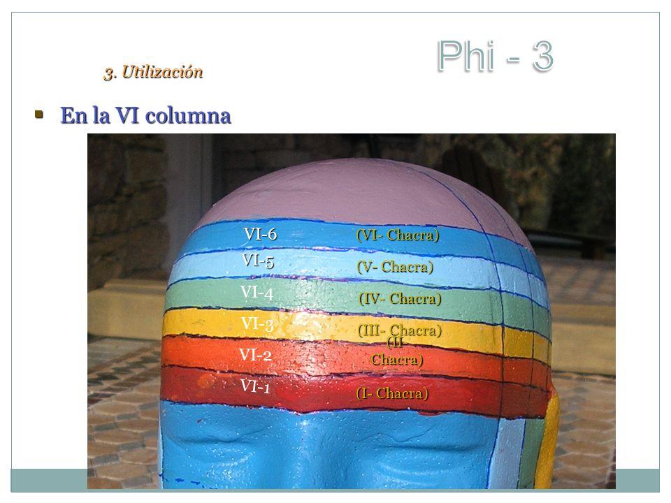 En la VI columna En la VI columna VI-4 VI-3 VI-1 VI-2 VI-6 VI-5 (II- Chacra) (I- Chacra) (III- Chacra) (IV- Chacra) (V- Chacra) (VI- Chacra) 3. Utiliz