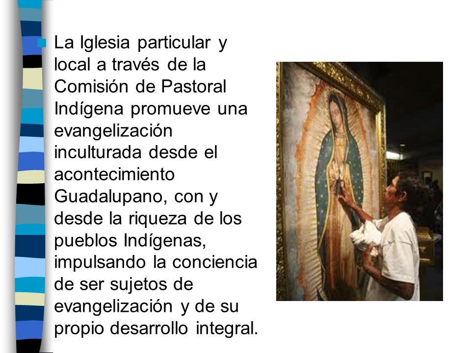 La Iglesia particular y local a través de la Comisión de Pastoral Indígena promueve una evangelización inculturada desde el acontecimiento Guadalupano