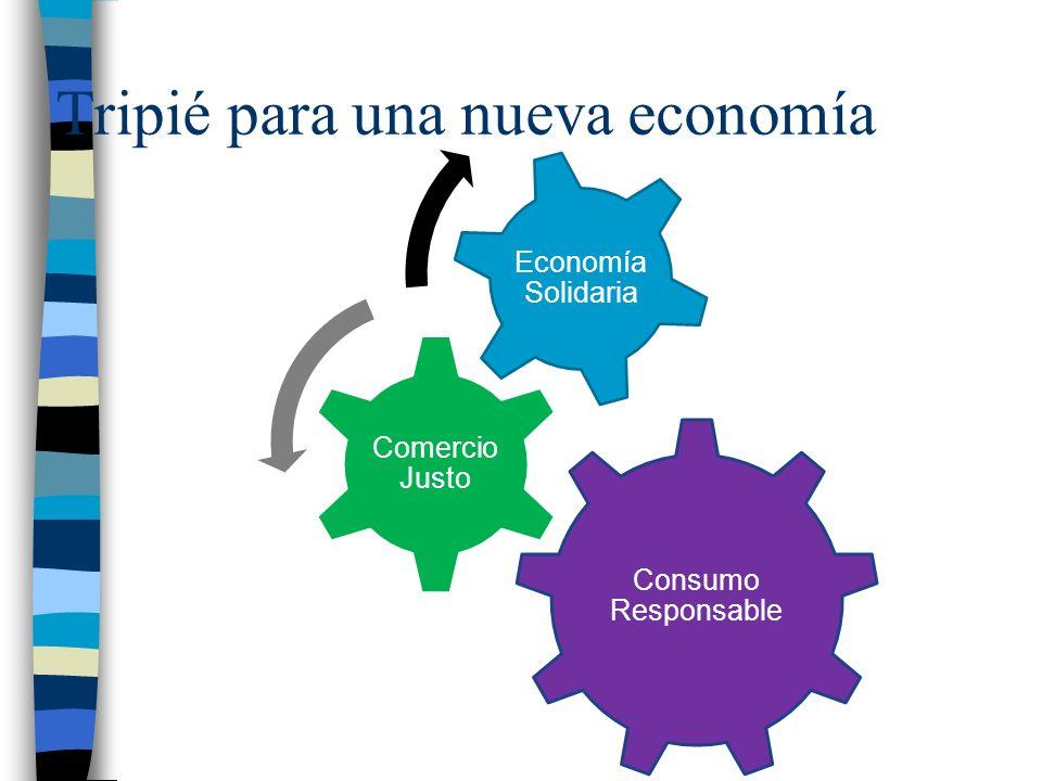 Tripié para una nueva economía Consumo Responsable Comercio Justo Economía Solidaria
