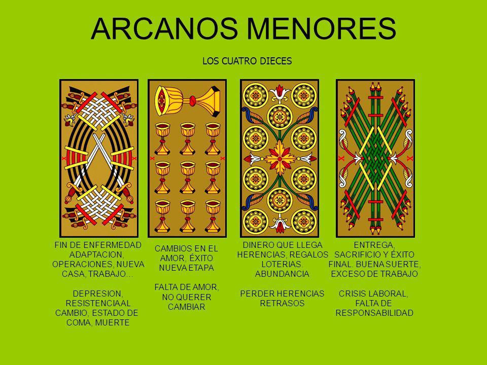ARCANOS MENORES LOS CUATRO DIECES FIN DE ENFERMEDAD ADAPTACION, OPERACIONES, NUEVA CASA, TRABAJO… DEPRESION, RESISTENCIA AL CAMBIO, ESTADO DE COMA, MU