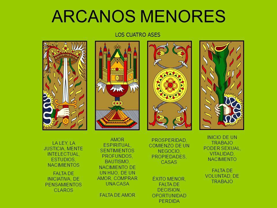 ARCANOS MENORES LOS CUATRO ASES LA LEY, LA JUSTICIA, MENTE INTELECTUAL, ESTUDIOS, NACIMIENTOS FALTA DE INICIATIVA, DE PENSAMIENTOS CLAROS AMOR ESPIRIT