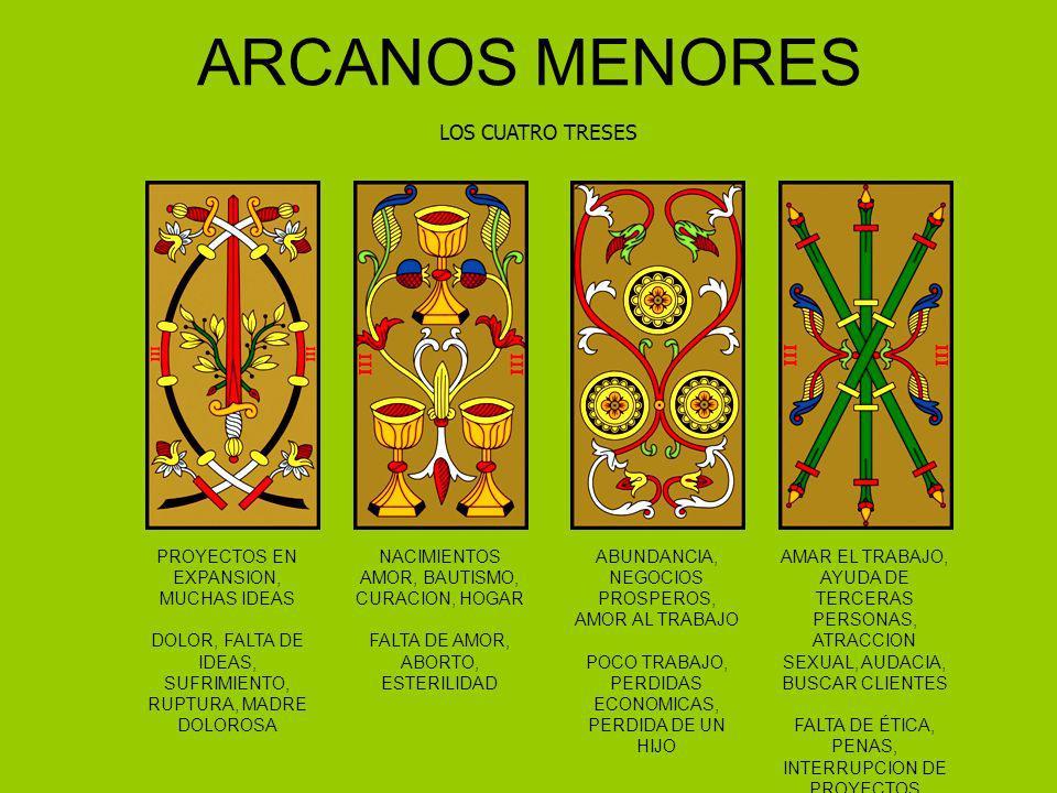 ARCANOS MENORES LOS CUATRO TRESES PROYECTOS EN EXPANSION, MUCHAS IDEAS DOLOR, FALTA DE IDEAS, SUFRIMIENTO, RUPTURA, MADRE DOLOROSA NACIMIENTOS AMOR, B