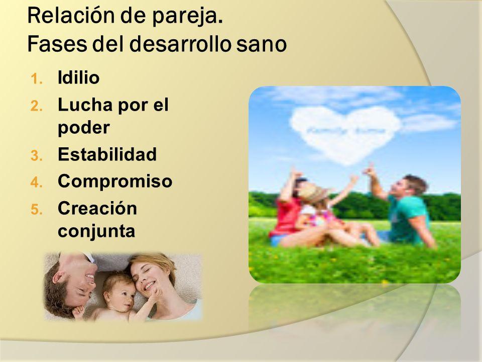 Relación de pareja.Fases del desarrollo sano 1. Idilio 2.