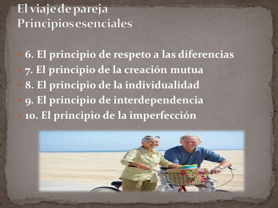 6.El principio de respeto a las diferencias 7. El principio de la creación mutua 8.