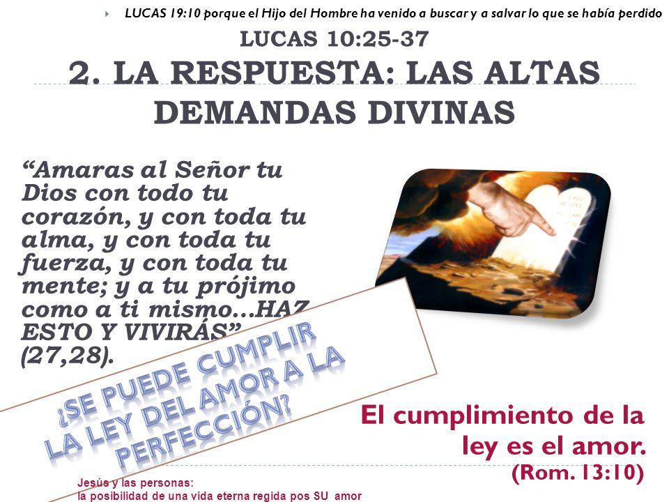 LUCAS 19:10 porque el Hijo del Hombre ha venido a buscar y a salvar lo que se había perdido Amaras al Señor tu Dios con todo tu corazón, y con toda tu