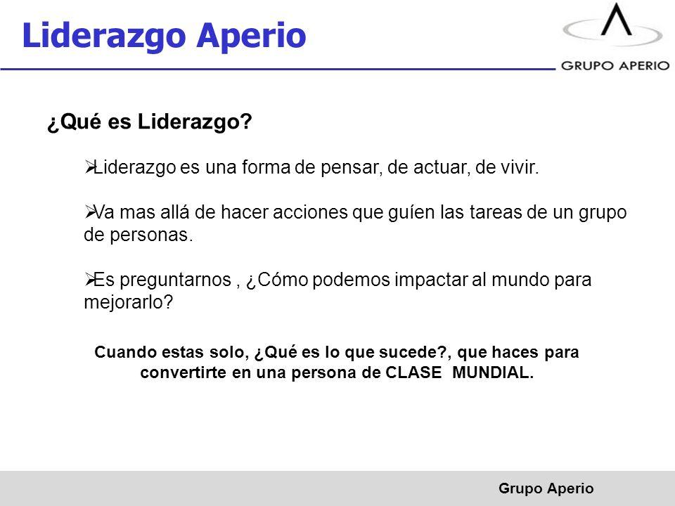 Aperio, S.A.de C.V. ® Grupo Aperio Liderazgo Aperio ¿Qué es Liderazgo.