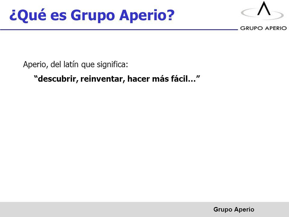 Aperio, S.A.de C.V. ® Empresa fundada en 2008 con sede en Monterrey, N.L.