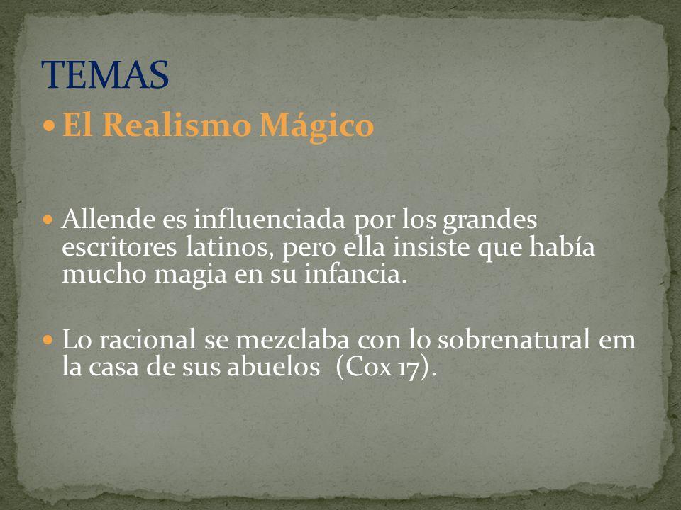El Realismo Mágico Allende es influenciada por los grandes escritores latinos, pero ella insiste que había mucho magia en su infancia. Lo racional se