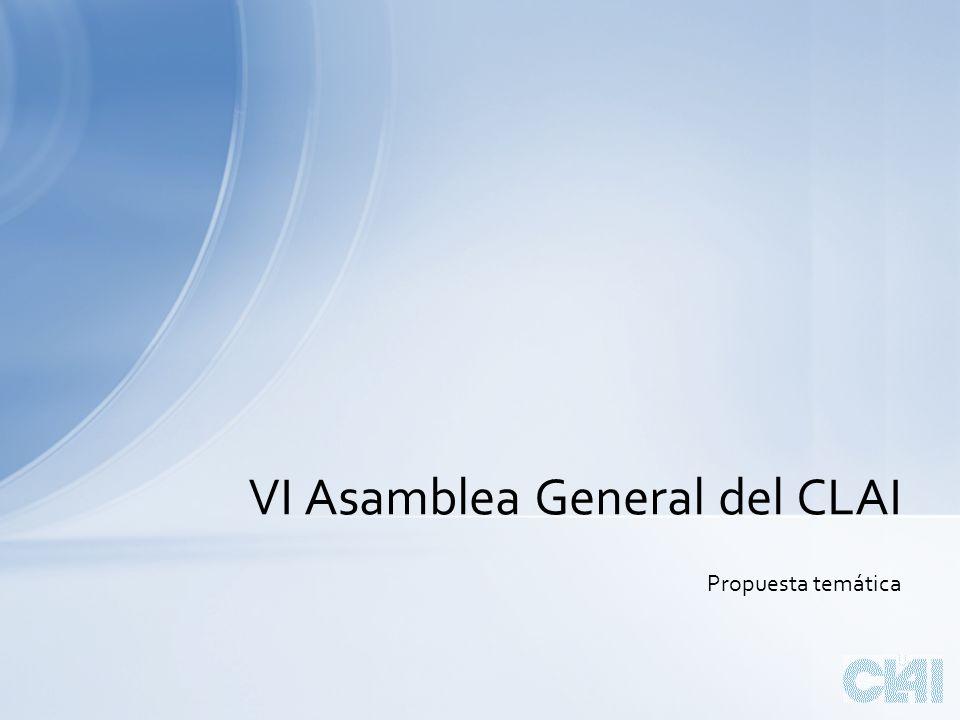 Propuesta temática VI Asamblea General del CLAI