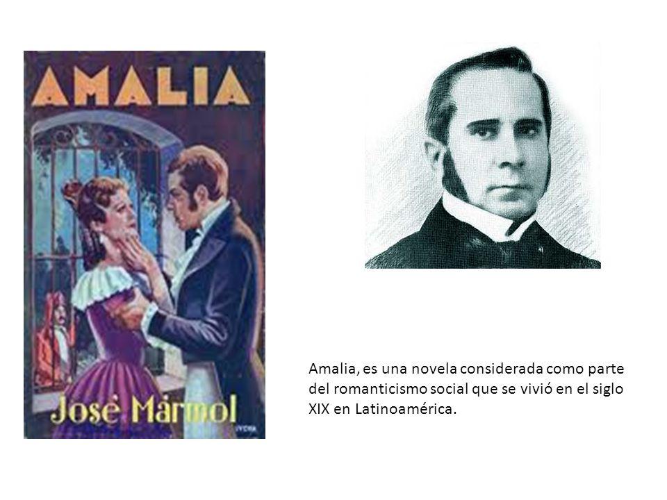 Amalia, es una novela considerada como parte del romanticismo social que se vivió en el siglo XIX en Latinoamérica.