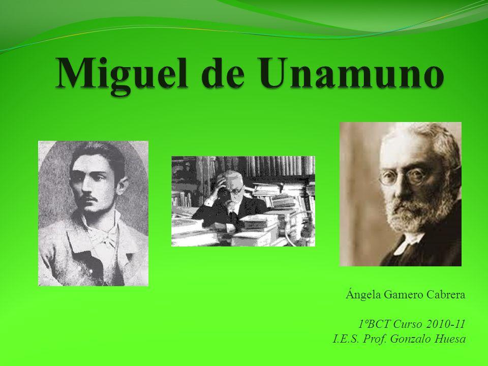 Miguel de Unamuno y los árboles Ángela Gamero Cabrera es alumna de Primero de Bachiller del IES Prof.
