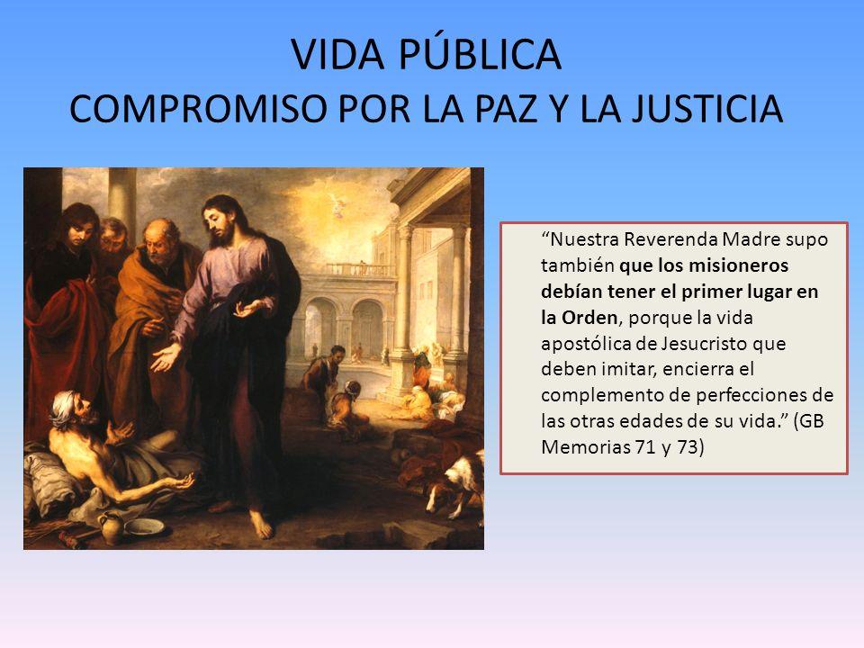 VIDA PÚBLICA COMPROMISO POR LA PAZ Y LA JUSTICIA