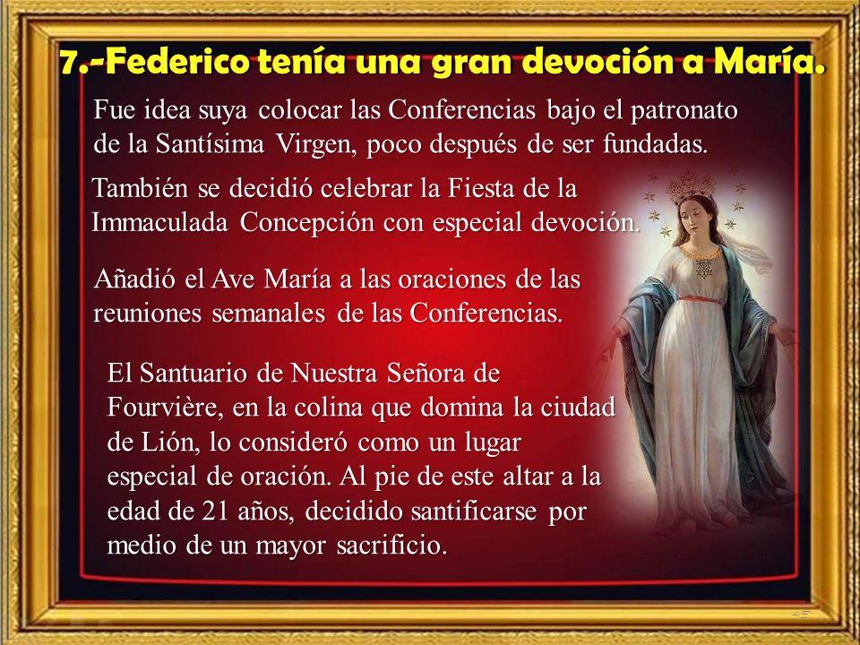 44 Federico tiene hermosos e inspirados pensamientos sobre la Providencia en su matrimonio. Escribe a Amelia, su mujer: