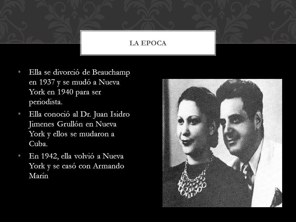 A los 17 años julia publico su primer verso fue publicado y su poema mas reconozido es Rio Grande De Loiza Julia se graduó a los 19 años en la Univers