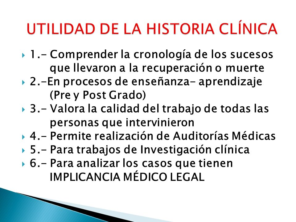 Es ÚNICA : cada paciente tiene un Nª de H.C.Es INTEGRAL: consigna estado de salud ó enfermedad.
