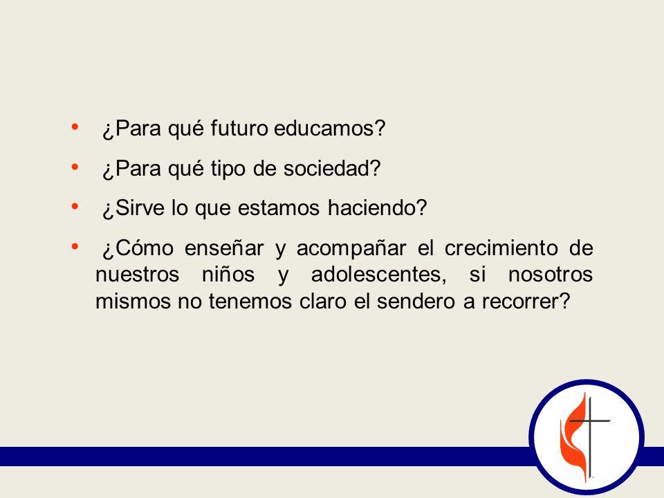 ¿Para qué futuro educamos? ¿Para qué tipo de sociedad? ¿Sirve lo que estamos haciendo? ¿Cómo enseñar y acompañar el crecimiento de nuestros niños y ad