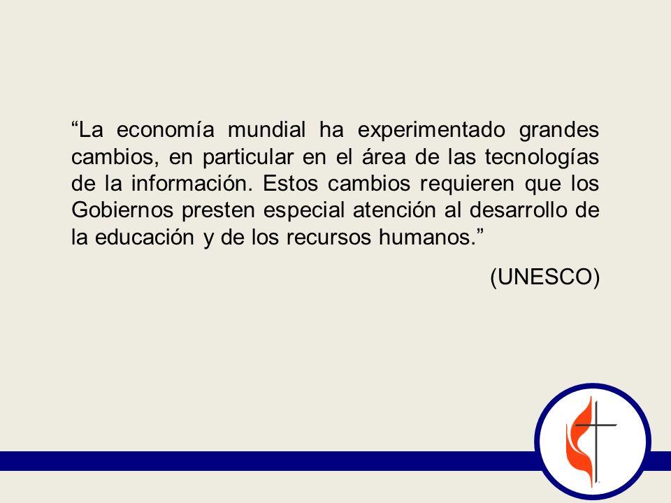 La economía mundial ha experimentado grandes cambios, en particular en el área de las tecnologías de la información.