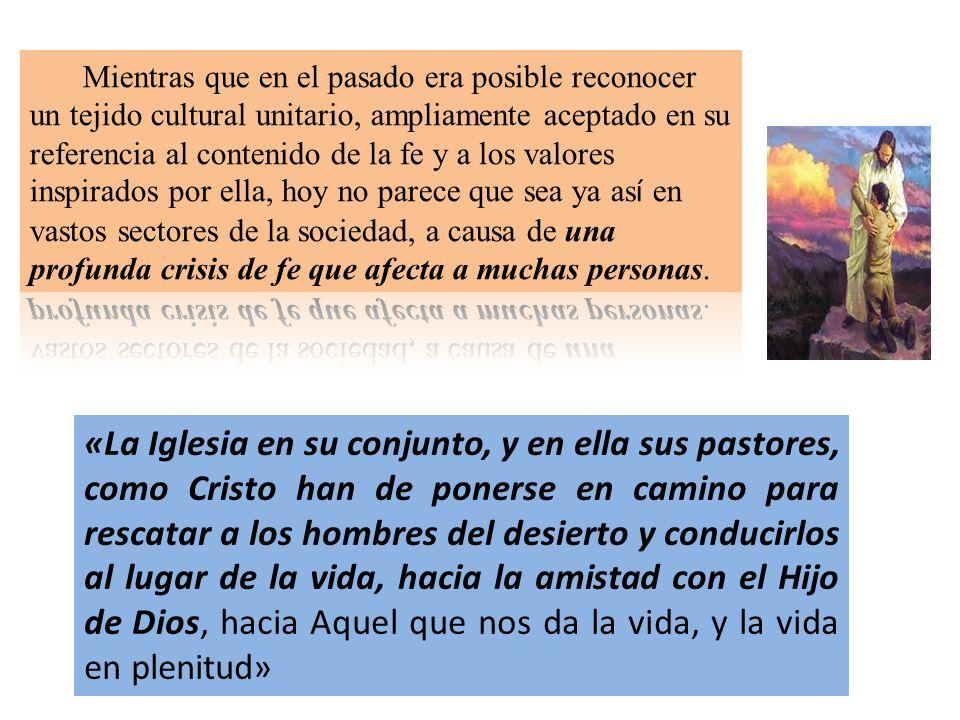 «La Iglesia en su conjunto, y en ella sus pastores, como Cristo han de ponerse en camino para rescatar a los hombres del desierto y conducirlos al lug