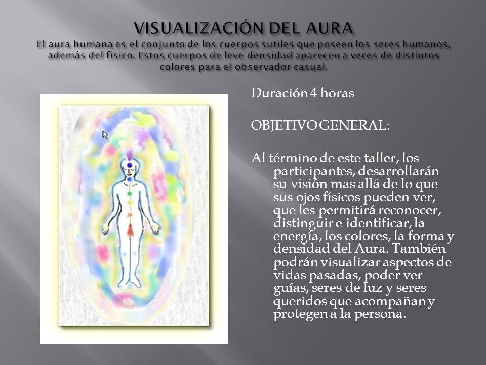 Duración 4 horas OBJETIVO GENERAL: Al término de este taller, los participantes, desarrollarán su visión mas allá de lo que sus ojos físicos pueden ve