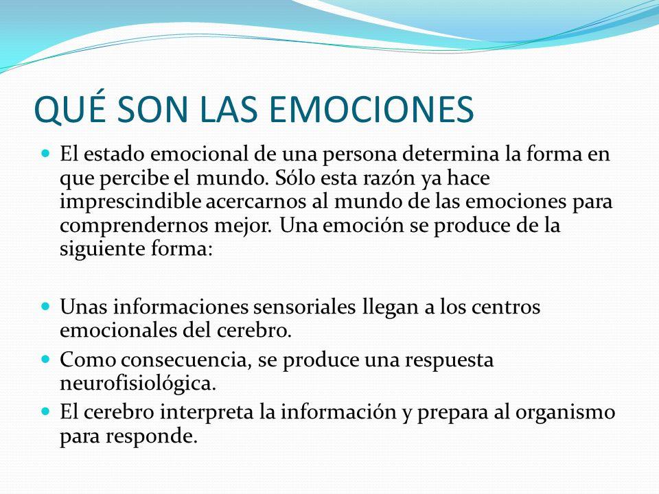 QUÉ SON LAS EMOCIONES El estado emocional de una persona determina la forma en que percibe el mundo. Sólo esta razón ya hace imprescindible acercarnos
