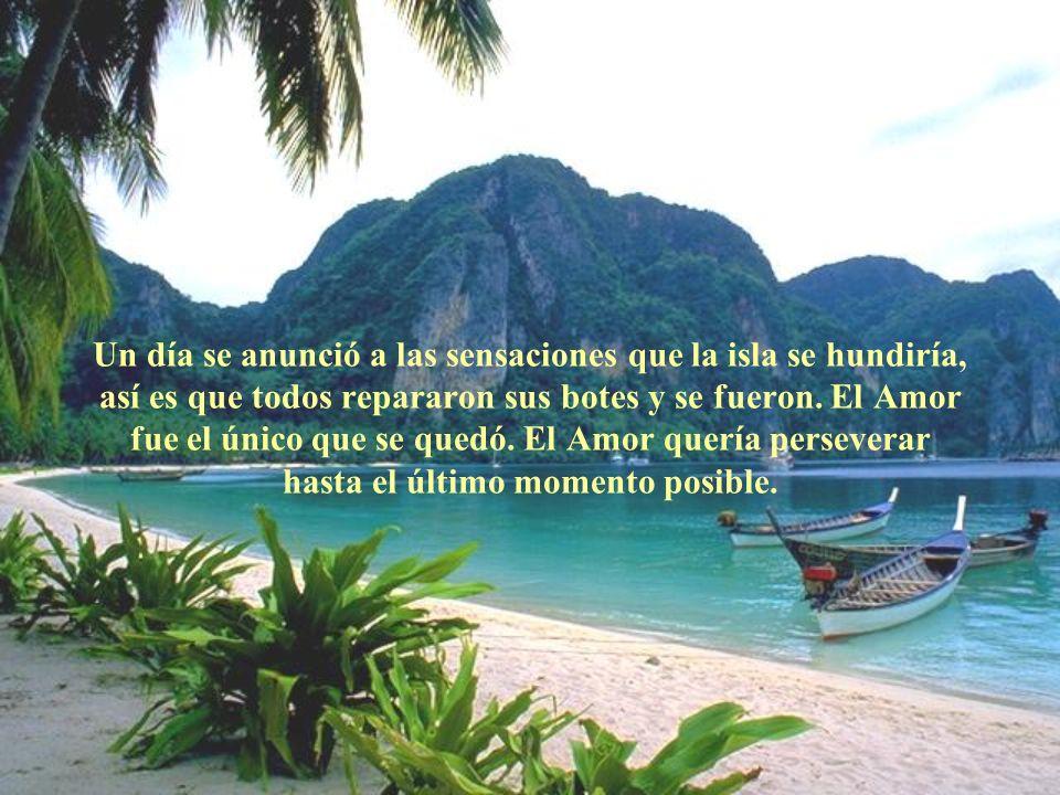 Un día se anunció a las sensaciones que la isla se hundiría, así es que todos repararon sus botes y se fueron.
