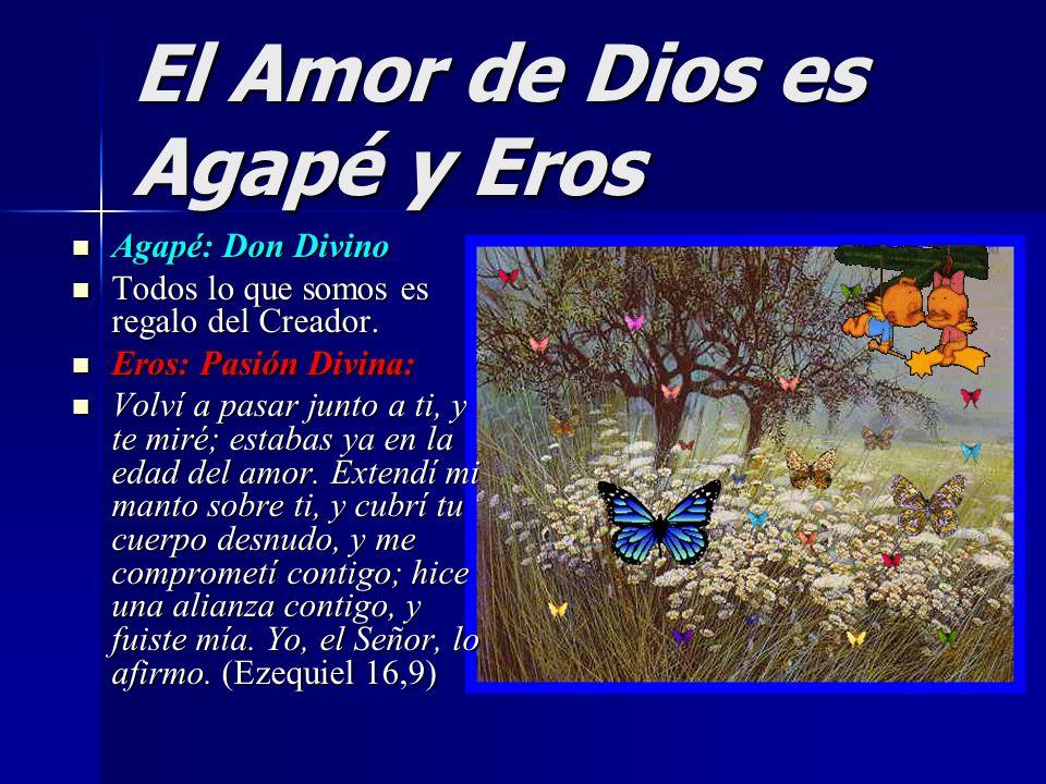 El Amor de Dios es Agapé y Eros Agapé: Don Divino Agapé: Don Divino Todos lo que somos es regalo del Creador. Todos lo que somos es regalo del Creador