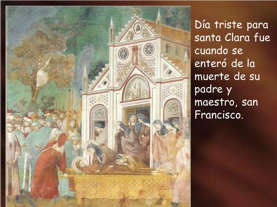 La última visita de san Francisco al convento de san Damián fue estando casi ciego.